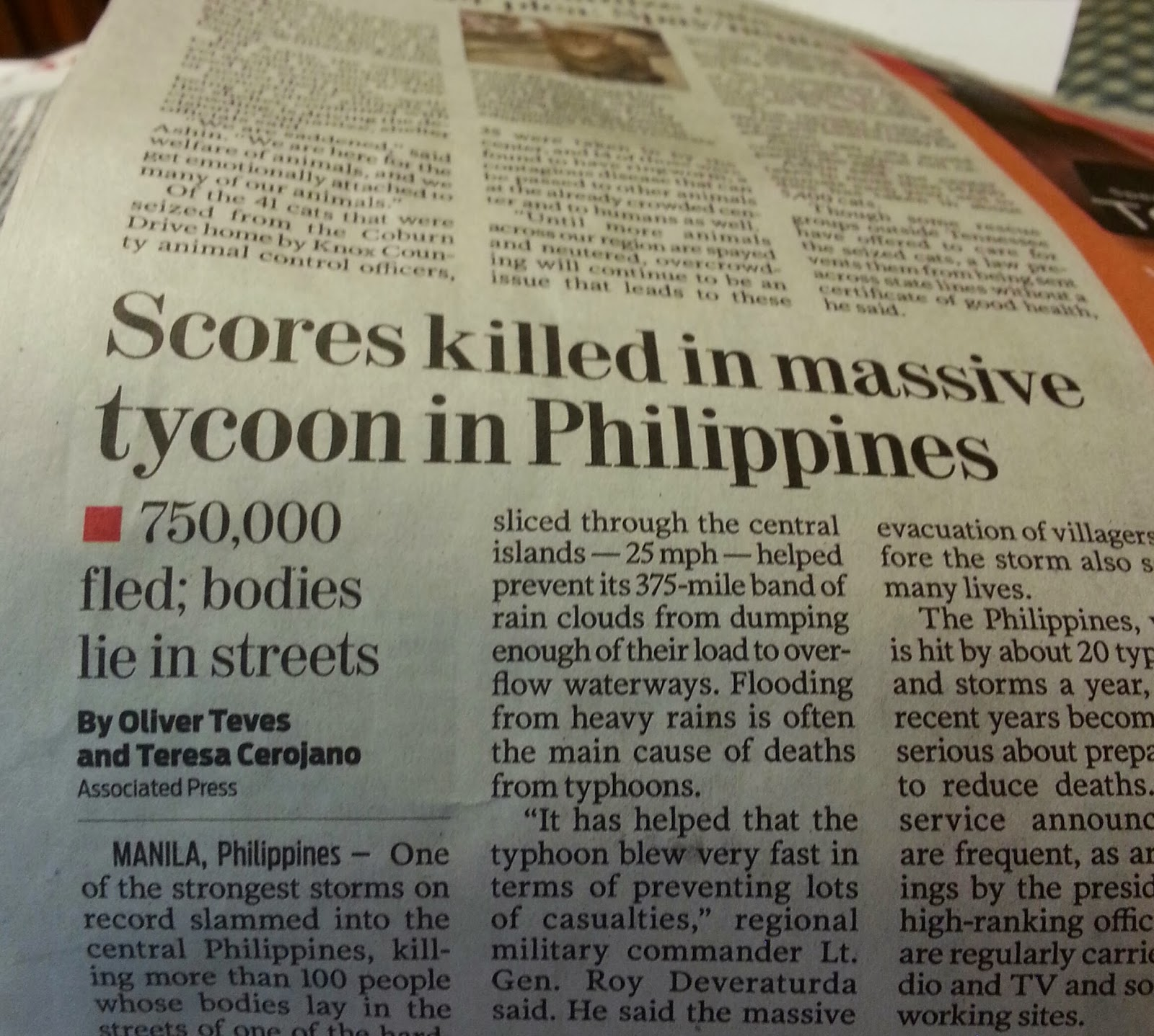 scores killed in massive tycoon in Philippines