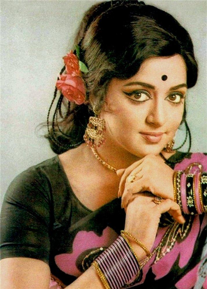 Colour Portrait Of Hema Malini An Indian Actress