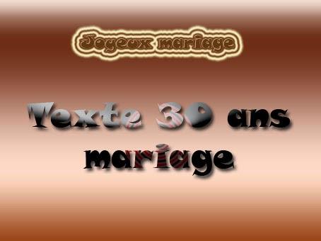 texte pour anniversaire de mariage 30 ans
