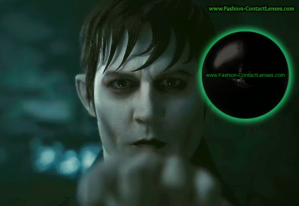 Black Halloween contact lenses