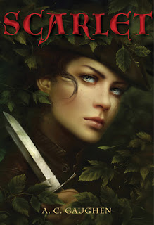 ARC book cover of Scarlet by A.C. Gaughen