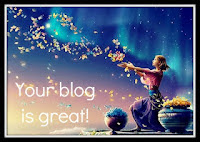 Your Blog is Great award by Claire!