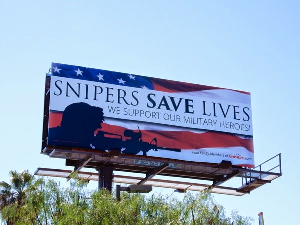 Snipers save lives billboard
