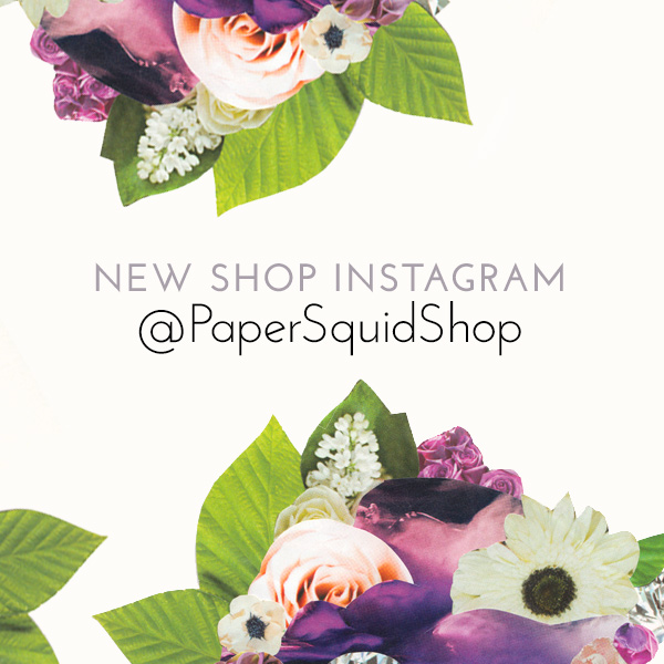 papersquidshop, papersquidshop instagram, design instagram, esty shop
