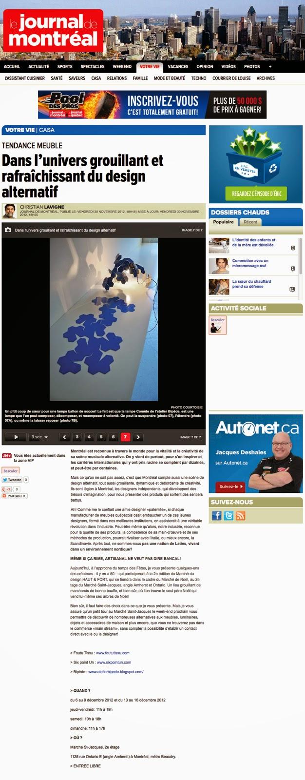 http://www.journaldemontreal.com/2012/11/30/dans-lunivers-grouillant-et-rafraichissant-du-design-alternatif