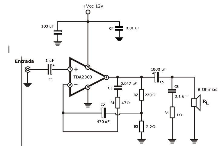 stereo tone control circuit diagram t