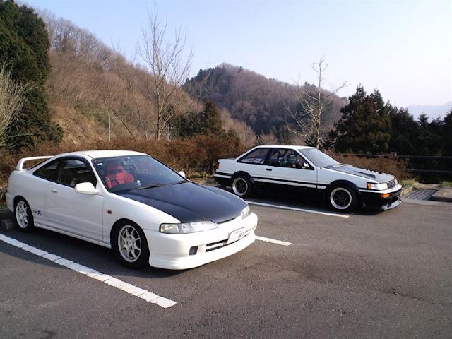 Honda Integra DC2 & Toyota Corolla Levin AE86 hachiroku kultowy legenda japoński sportowy samochód coupe VTEC
