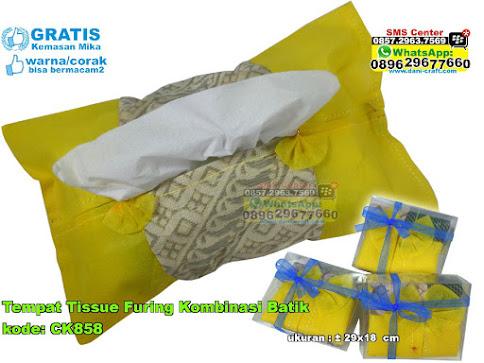 Tempat Tissue Furing Kombinasi Batik
