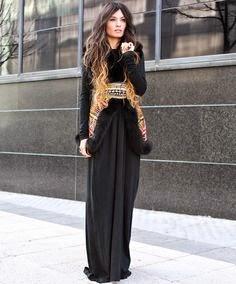 Looks vestidos largos invierno