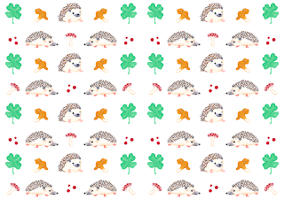 Hedgehog Pattern - Jen Haugan Animation & Illustration
