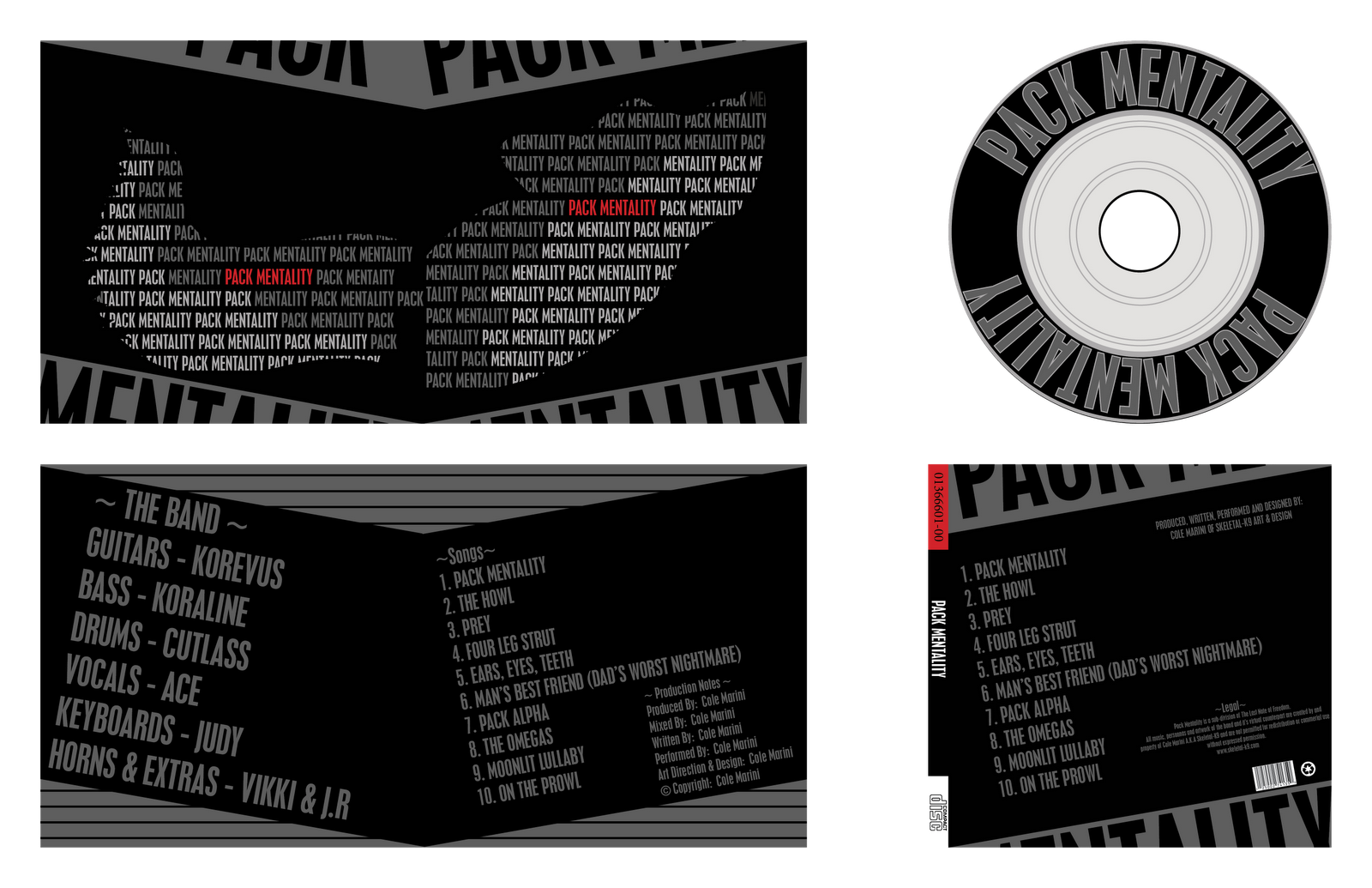 The Last Note Of Freedom: Pack Mentality Typography Style CD Layout