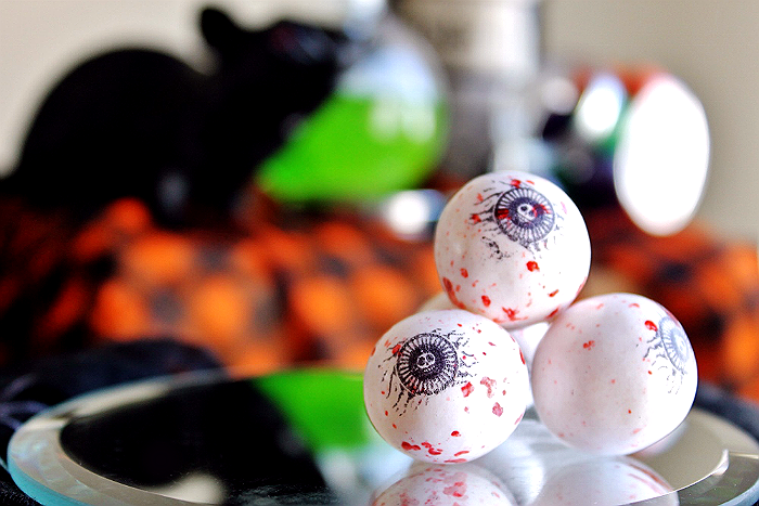 Eyeball Gumballs from #SweetworksFall range of candy and edible decor. #ad