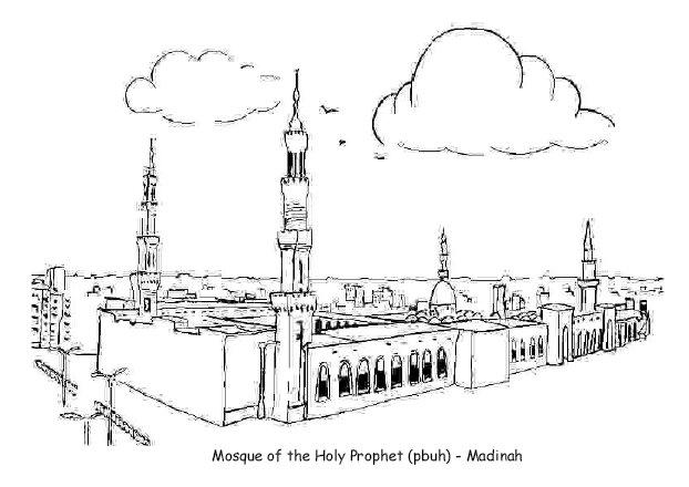 Kumpulan Sketsa Islami Lomba Mewarnai