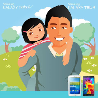 Share foto Ayah dengan Anak untuk Menangkan Samsung Galaxy Tablet