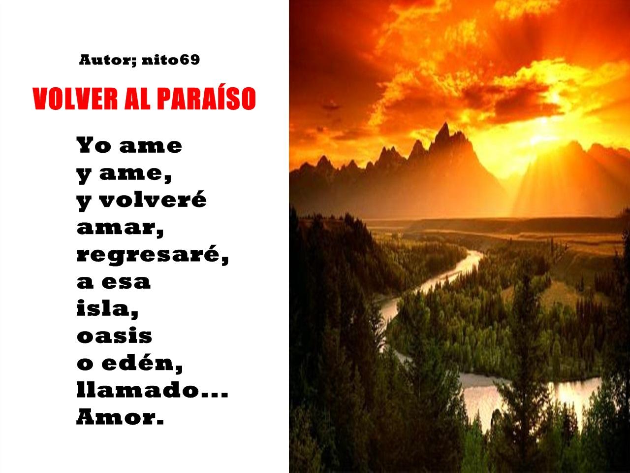 VOLVER AL PARAÍSO