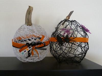 Decorazione di halloween da riciclo creativo filati