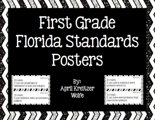 Photo of Florida Standards First Grade Wolfelicious