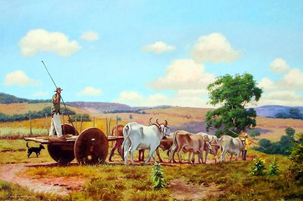 Cuadros modernos pinturas y dibujos paisajes pintados en - Cuadros de vacas ...