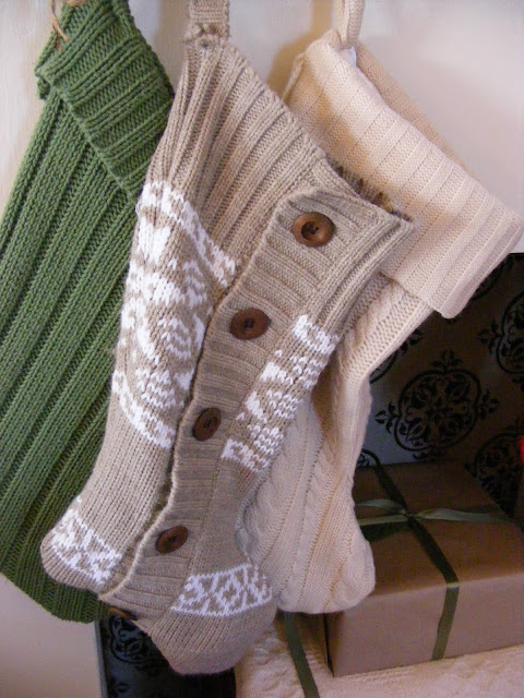 Imperfect Homemaking's Christmas Stockings from sweaters
