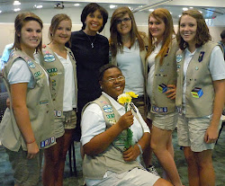 2011 After a speech  to Girl Scouts!