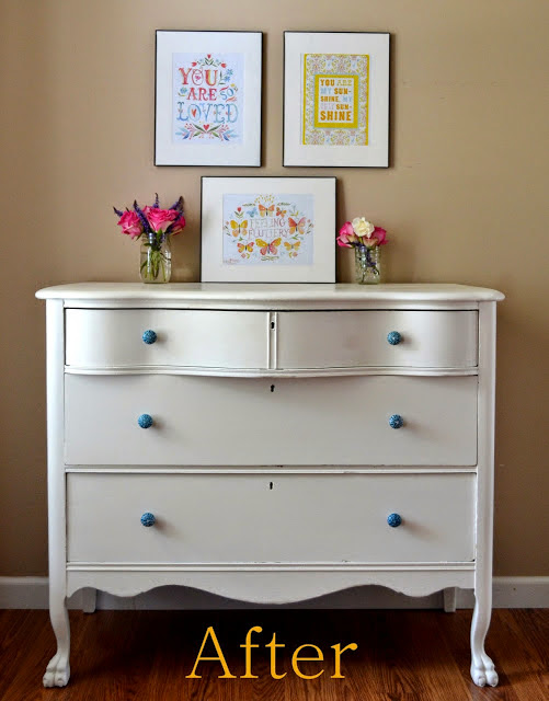 Picked and Painted Dresser