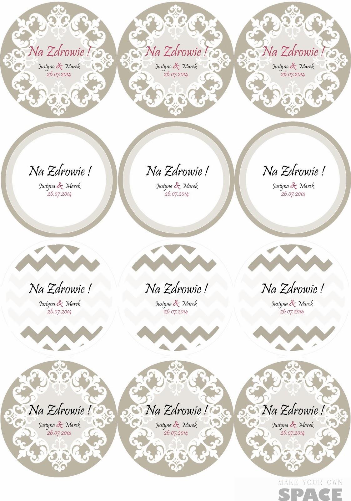 Zawieszki na alkohol, zawieszki, alkohol, wesele, DIY, ślub