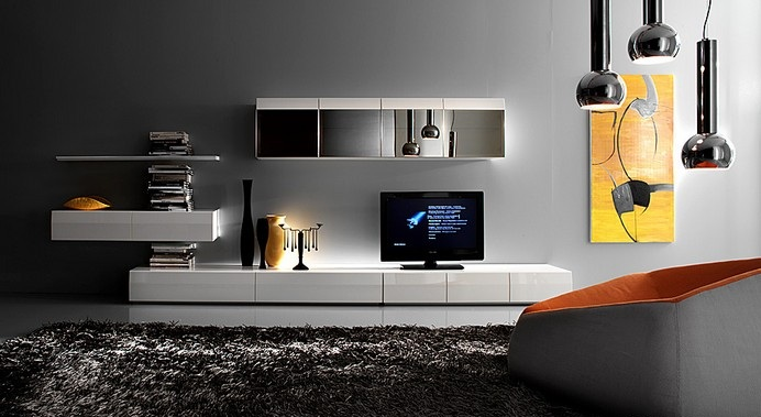 Furniture interior design modular with door available in Tv panel furniture design
