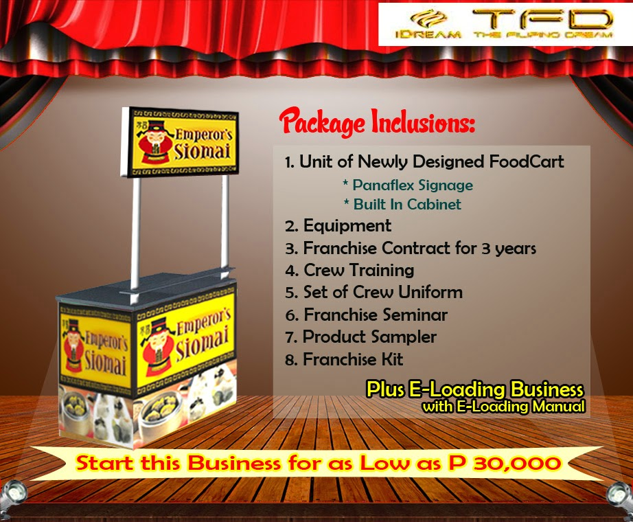 Foodcart For Franchise - A Siomai Food Concept Offered in the Philippines.