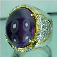 Batu permata kecubung kalimantan, ungu, purple amethyst, batu mulia ...