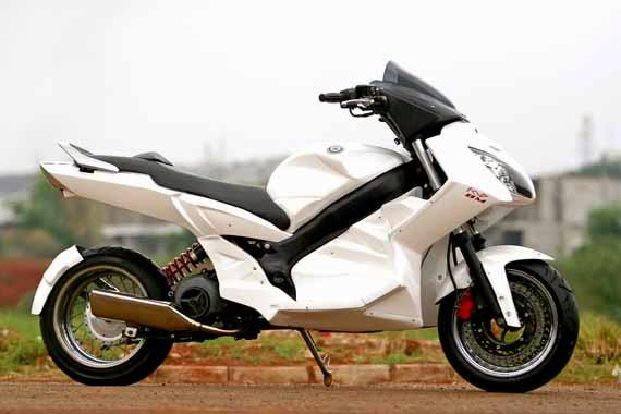 Modifikasi Yamaha Nouvo Putih