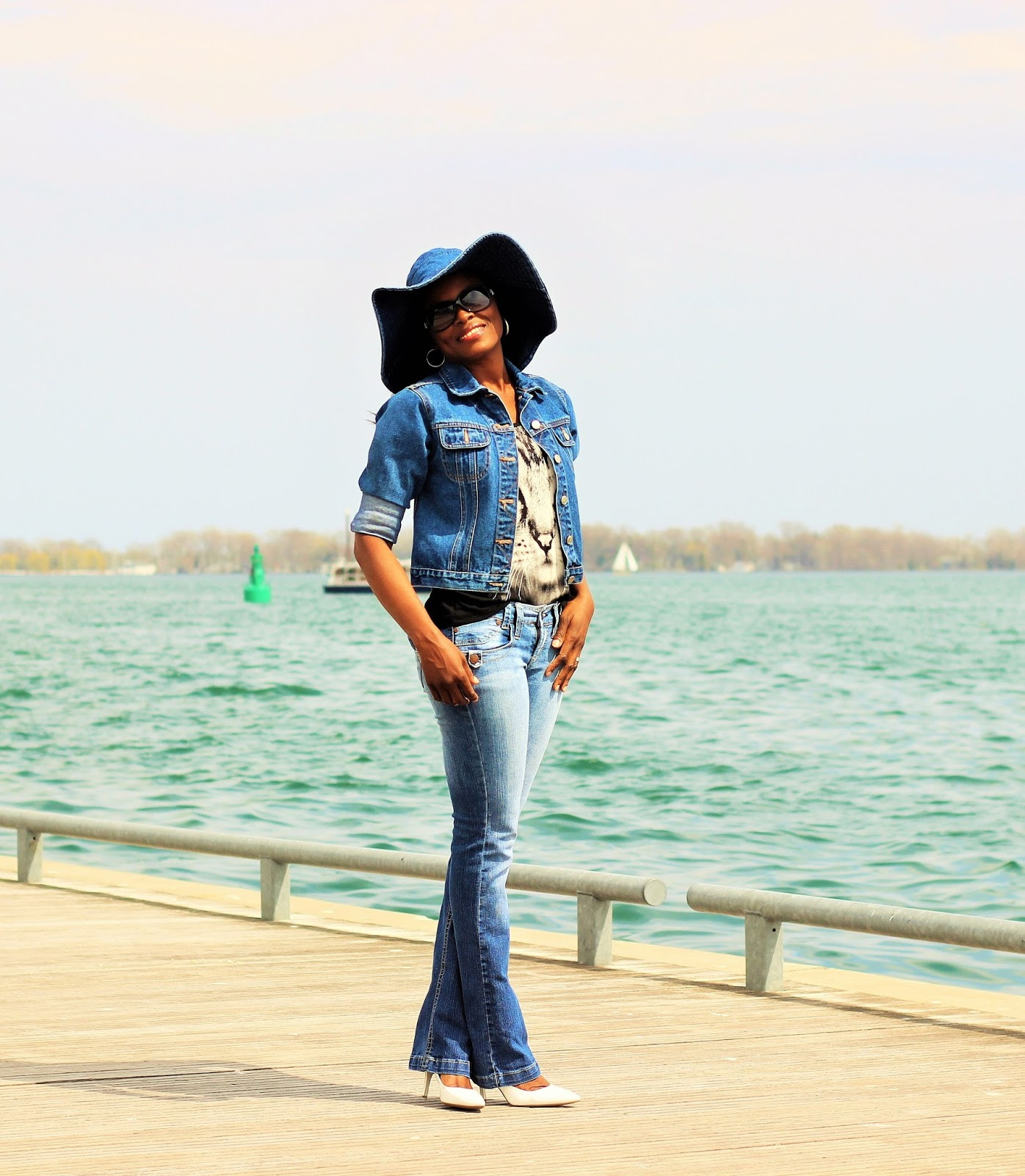 Denim Floppy Hat by Jessica Simpson Collection
