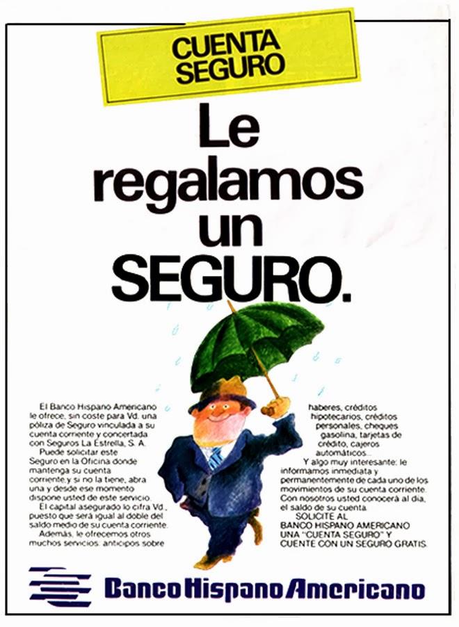 Banco Hispano Publicidad de los años 80