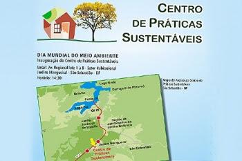 """Primeiro Centro de Práticas Sustentáveis do DF é """"construção verde"""""""