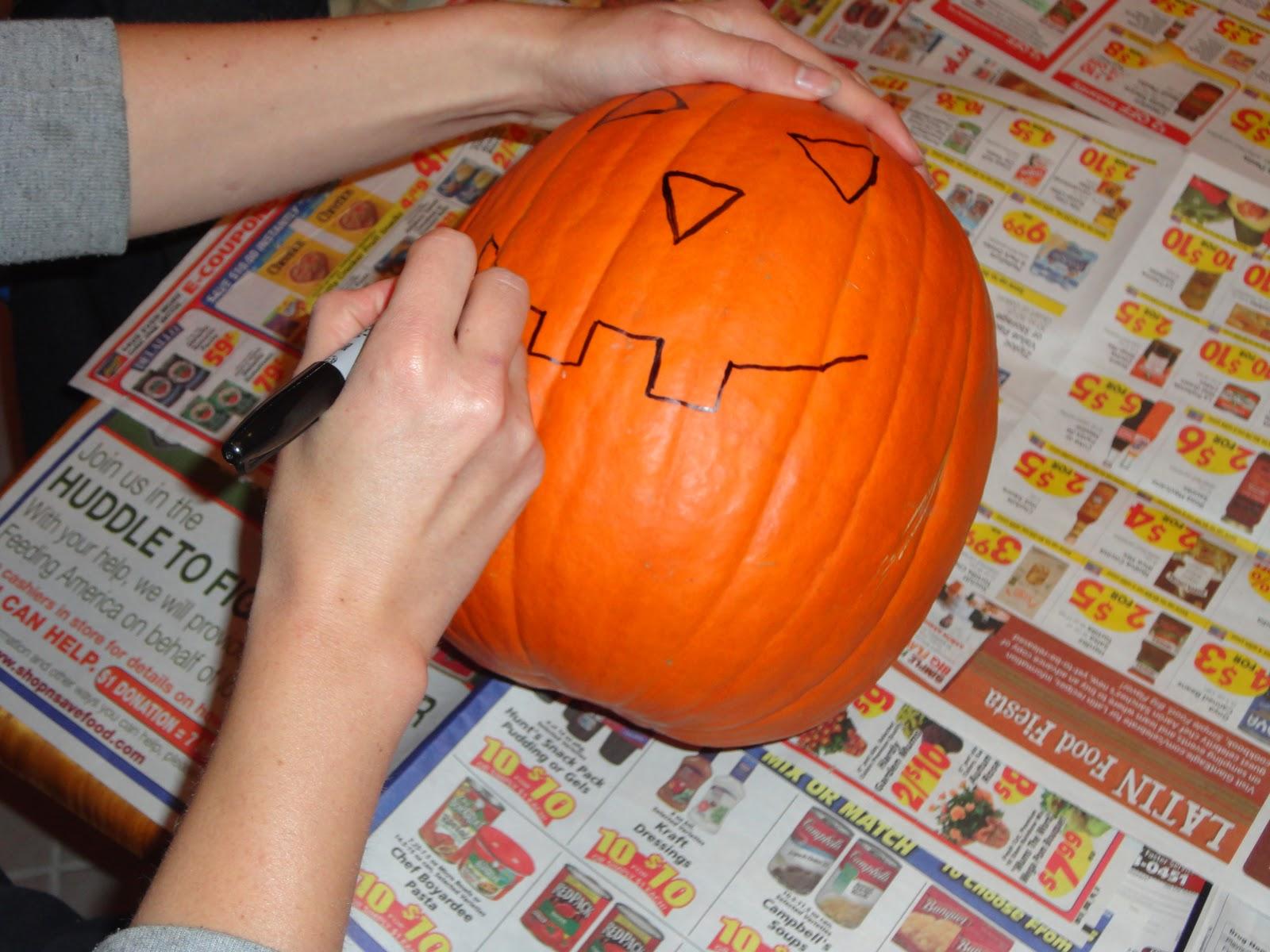 Pumpkin Seed Drawing Drawing my Pumpkin's Face