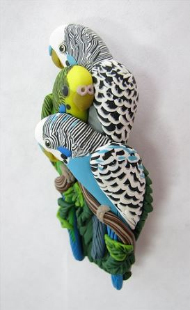 Amazing Polymer Clay Parrot Jewelry By Alicia Merritt