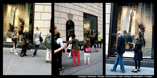 Just a Mannequin Sporting a Mohawk Causes Some Double Takes, #BGWindows, Bergdorf Goodman, NYC