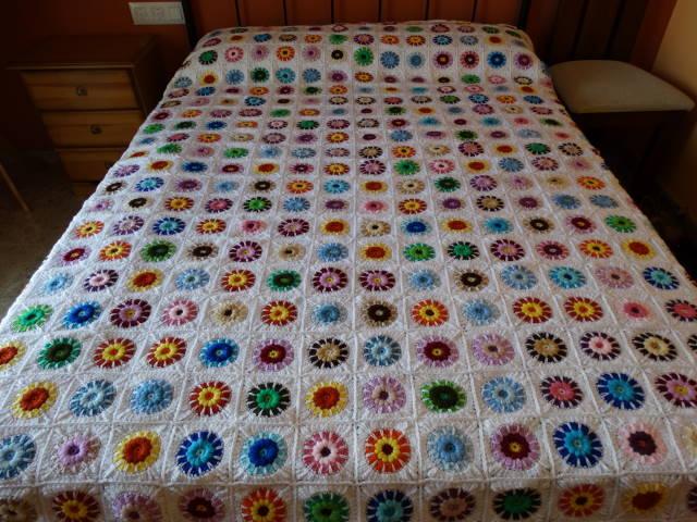 Patchwork desde la alpujarra colcha de crochet o ganchillo - Como hacer mantas de patchwork ...