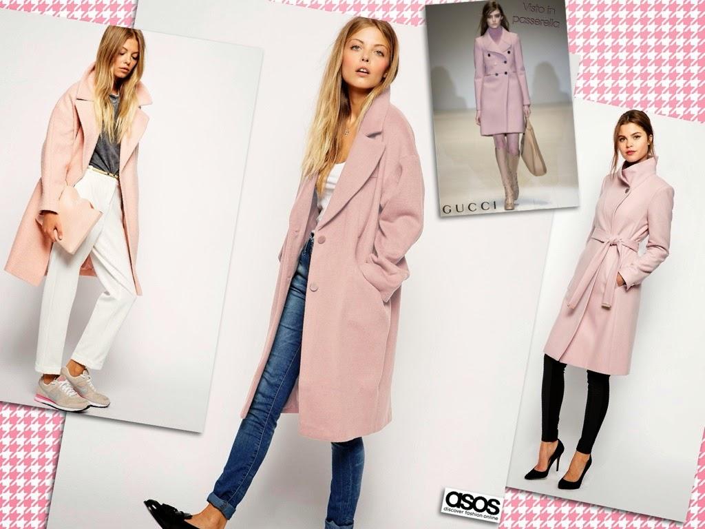 vestirsi inverno, cappotto rosa, cappotti asos,
