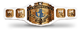 white Intercontinental title belt championship design
