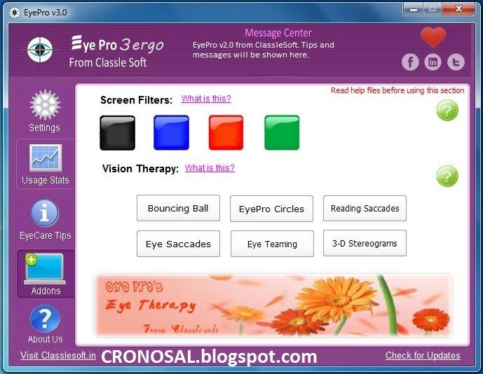Download EyePro Gratis | Software Untuk Merawat Kesehatan Mata di Depan Komputer