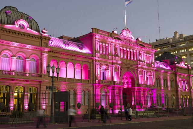 Puesta en valor la casa rosada es asim trica - La casa del led ...
