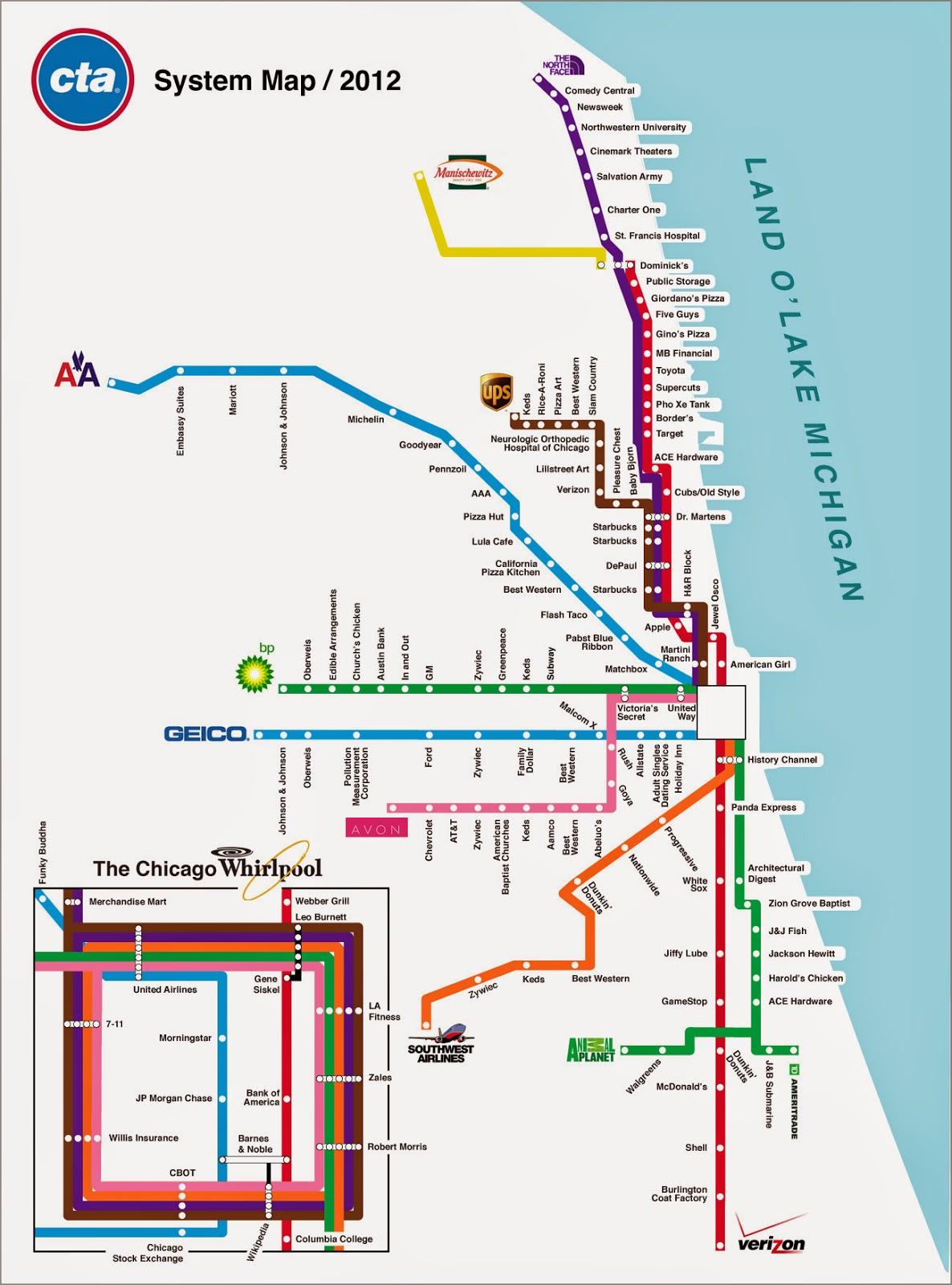 Chicago Transit Map - Free Printable Maps on