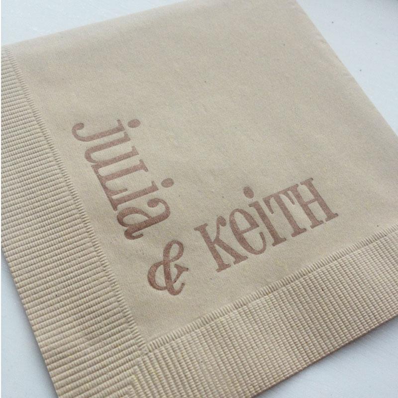fabulous personalized napkins fresh ink style sentiment