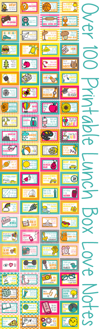 MY 100+ PRINTABLE LUNCH NOTES ARE POPULAR RIGHT NOW IN THE SHOP: