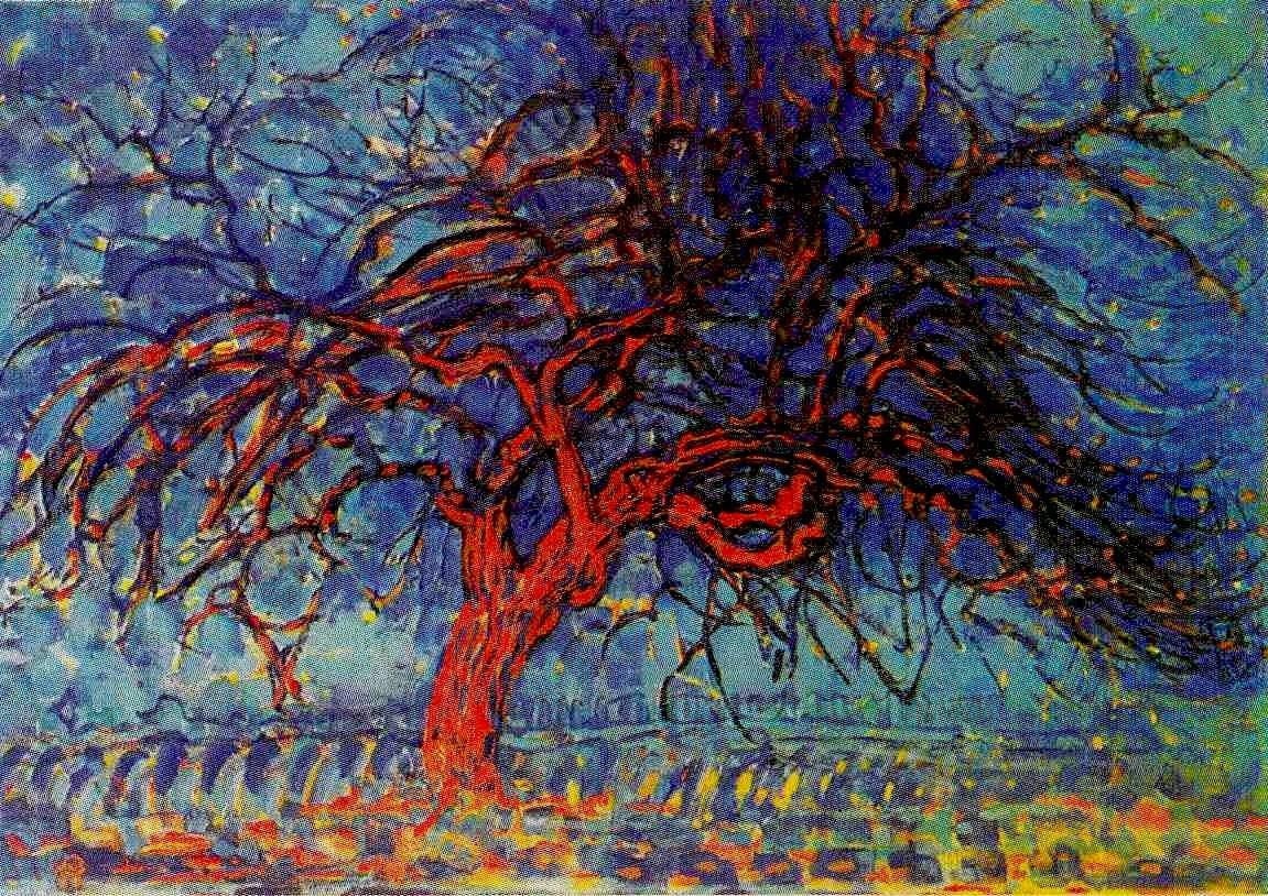 Luca rivara blog piet mondriaan for Pintura color albero