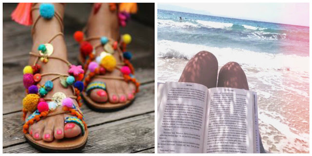 chloeschlothes - Sandales pompom & lire un bon livre