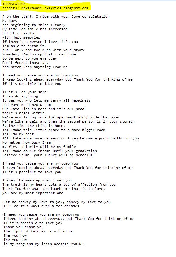 Random Jpop and Kpop Lyrics + Translations : November 2015