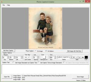 تحميل برنامج التعليق على الصور Photo Caption Creator 2.0 مجانا