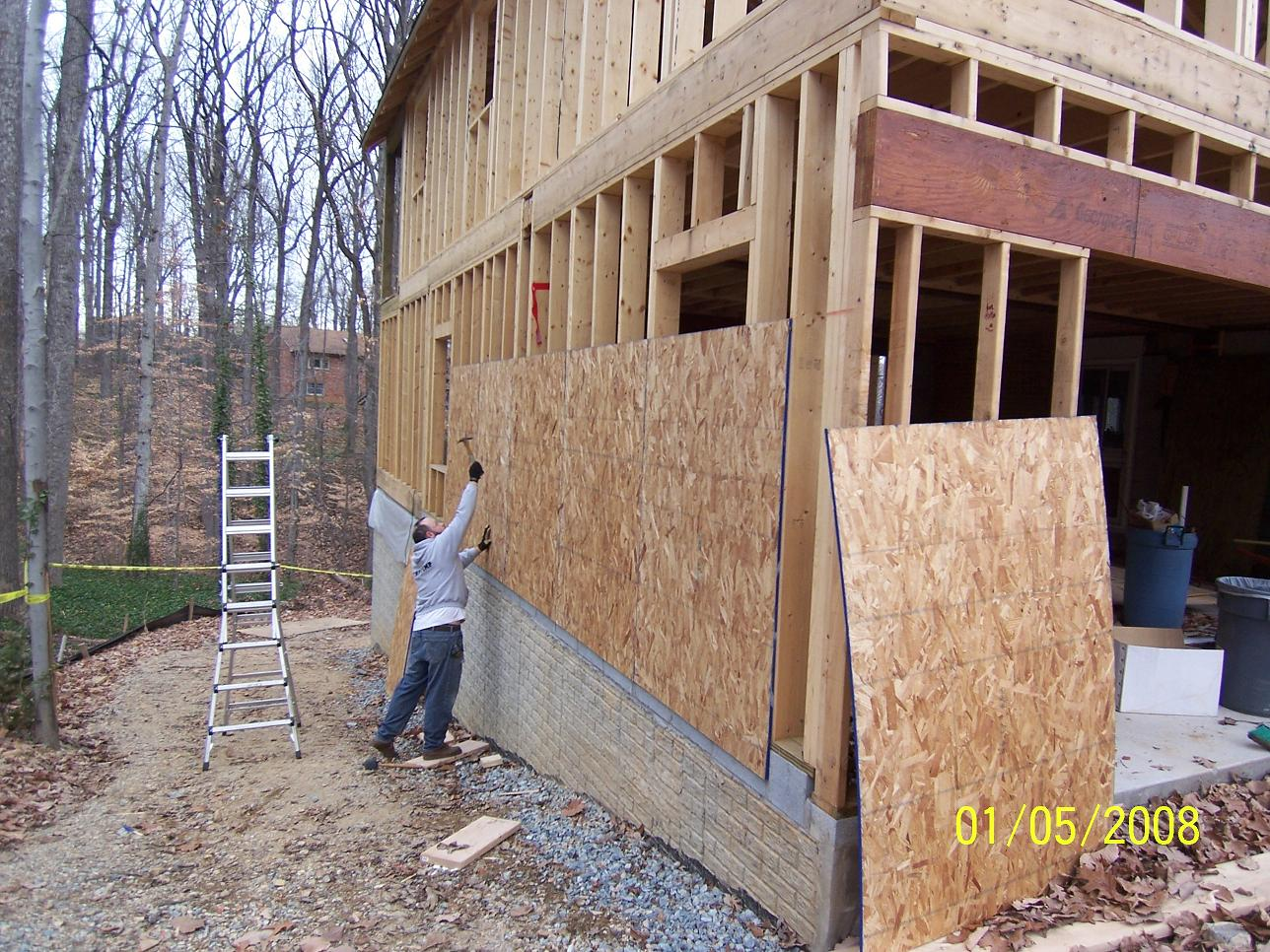 Architecture school tips what is sheathing for Plywood wall sheathing