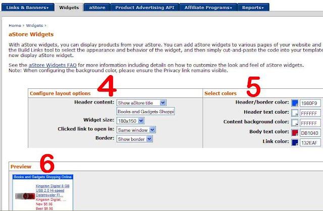 astore widget untuk blogger widget 2